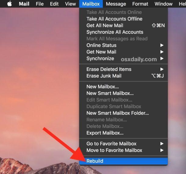 Ricreare Mailbox su Mac Mail