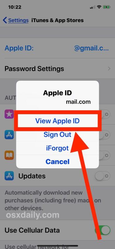 Come interrompere la verifica Messaggio richiesto in iOS con App Store