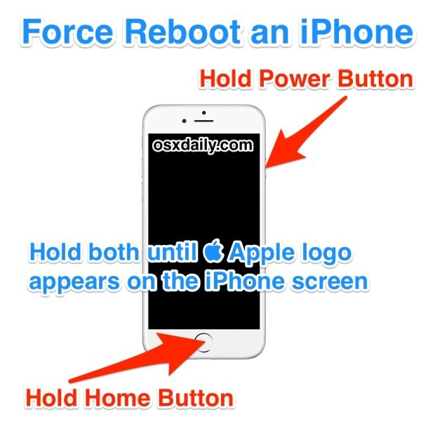Come forzare Riavviare un iPhone