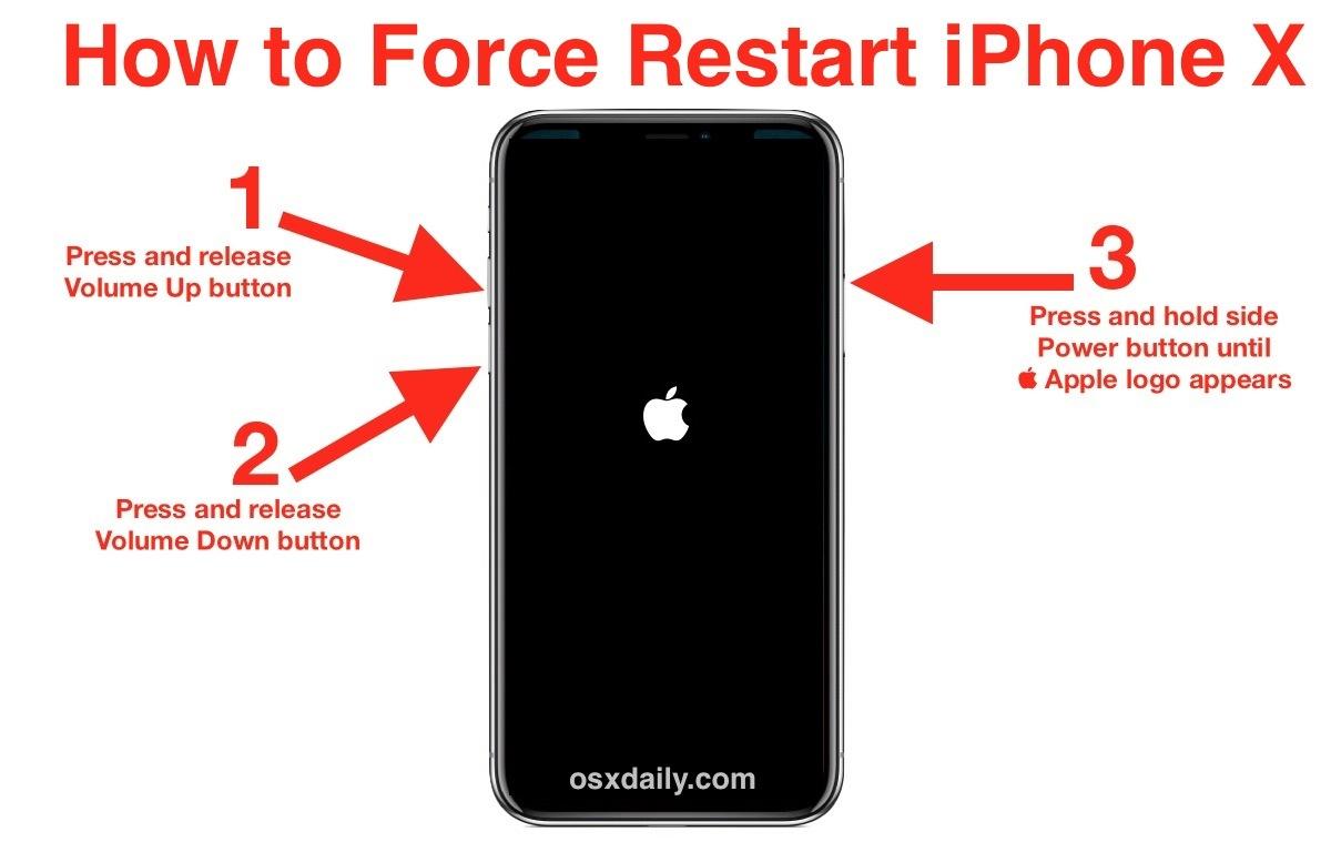 Come forzare il riavvio di iPhone X in tre passaggi