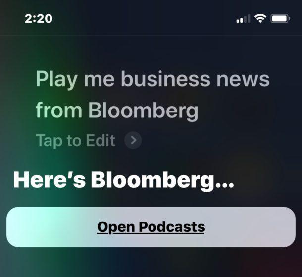 Gioca notizie da Siri