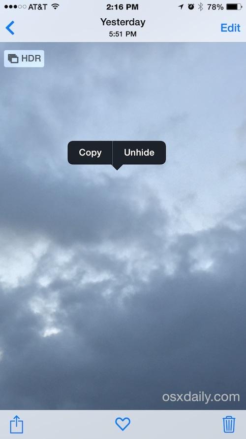 Scopri le foto in iOS