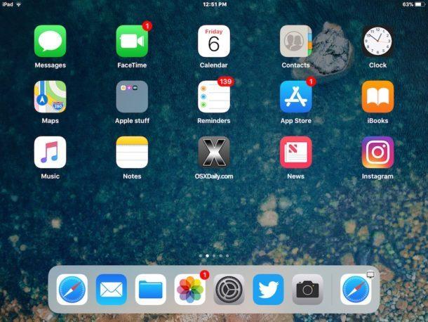 App recenti disabilitate nel dock dell'iPad