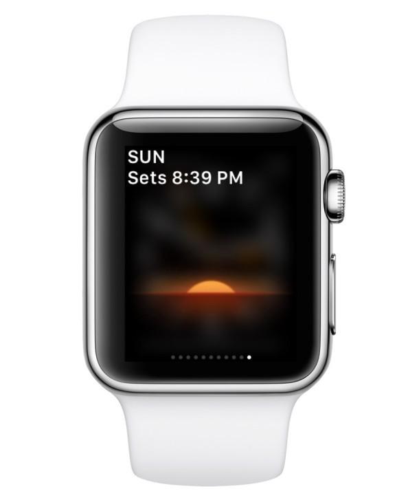 App di terze parti installata su Apple Watch, visibile in Glances