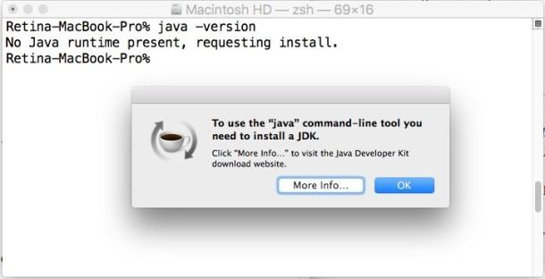 Installa java in OS X El Capitan