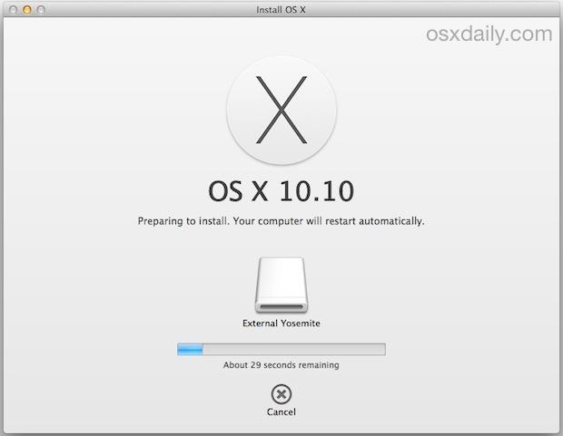 Installazione di OS X Yosemite