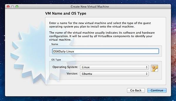 Crea una macchina virtuale per Ubuntu Linux