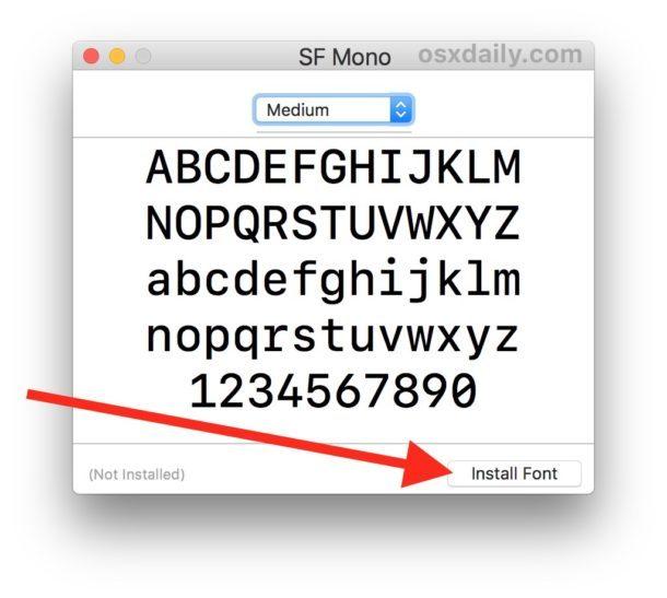 Installa SF Mono su Mac