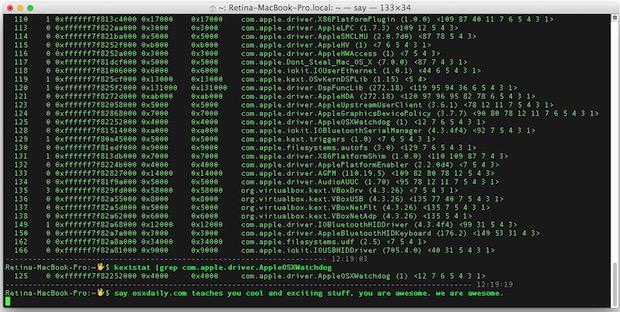 Caricamento e scaricamento delle estensioni del kernel in Mac OS X