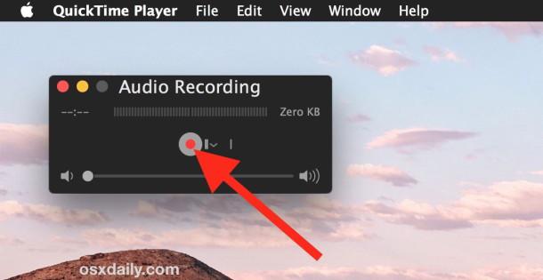 Registra il suono che desideri impostare come avviso per Mac OS X.