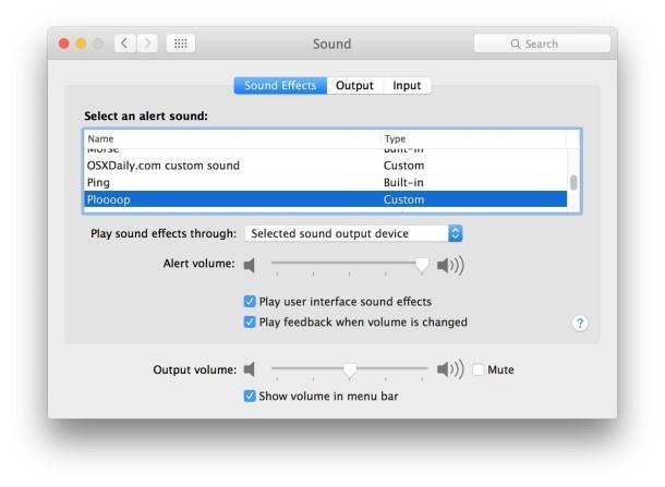 Usa il suono di avviso personalizzato in Mac OS X