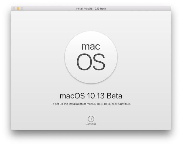 Installa MacOS High Sierra beta tramite il programma di installazione USB