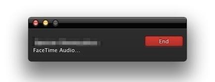 Fine chiamata FaceTime Audio in Mac