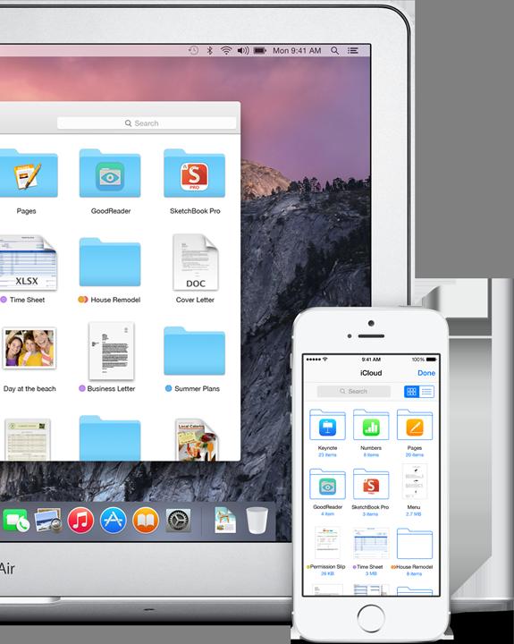 iCloud Drive in OS X Yosemite semplifica la gestione dei file iCloud da Mac e iOS