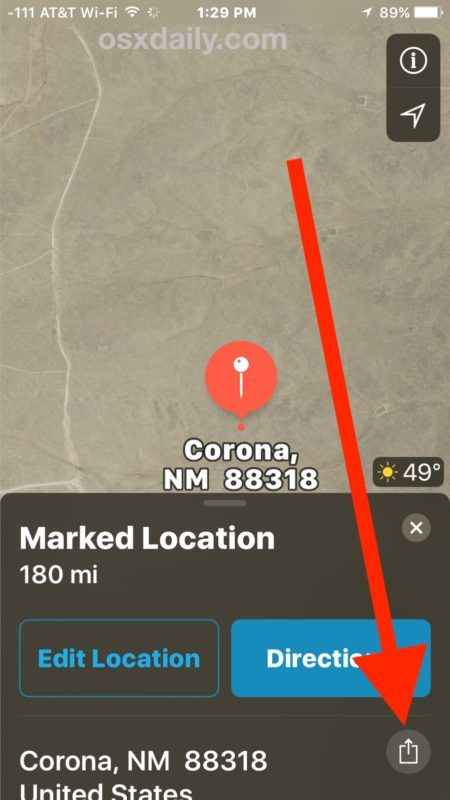 Condividi il pin di posizione in Maps su iPhone