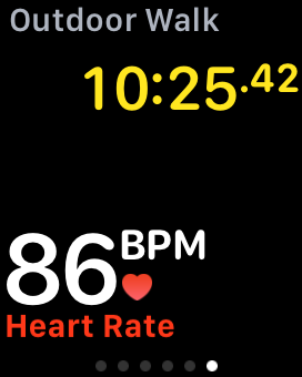 Monitoraggio continuo della frequenza cardiaca con l'app di fitness Apple Watch