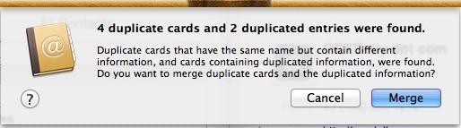 Unisci duplicati in Contatti per sincronizzarsi con iPhone
