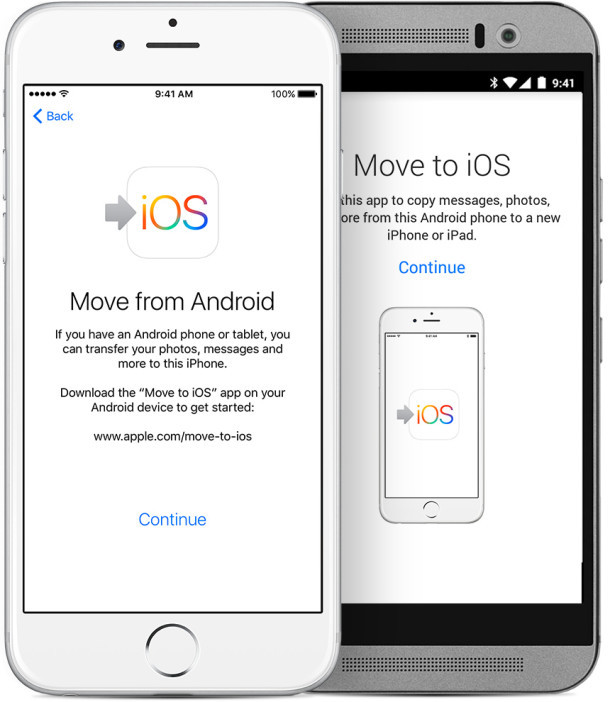 Migra Android su iPhone