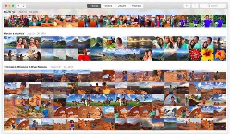 App Foto in OS X
