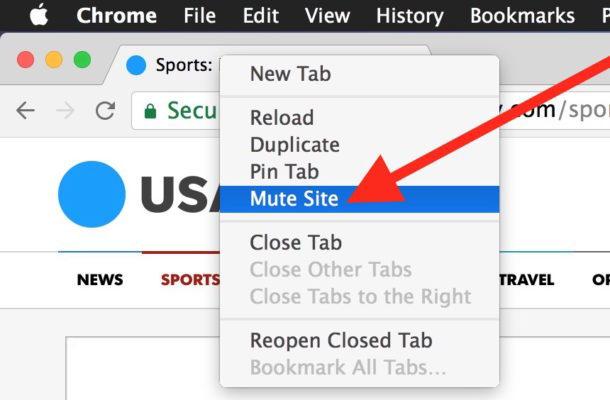 Come disattivare un sito Web in Chrome