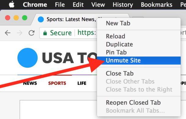 Come riattivare un sito Web in Chrome
