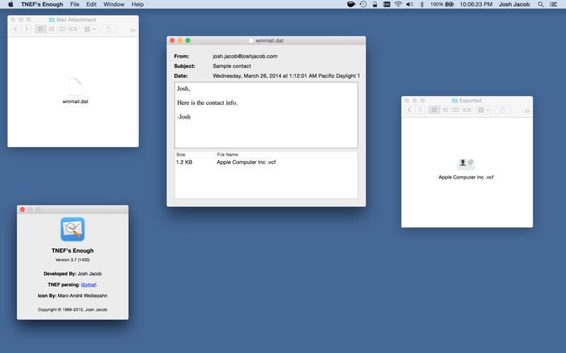 Salvare un file allegato Winmail.dat da Mail in Mac OS X.