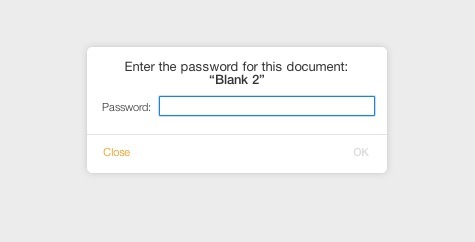 Password richiesta per aprire il documento iWork