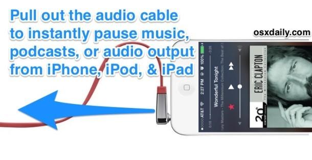 Metti subito in pausa la musica sull'iPhone strappando il cavo audio
