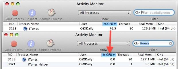 Metti in pausa un processo in Mac OS X per salvare la CPU