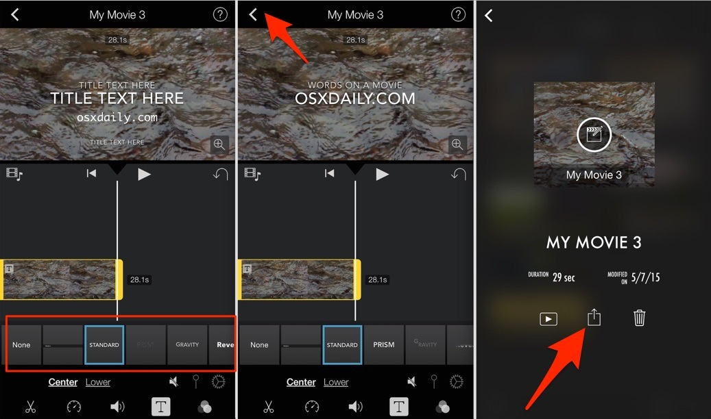 Come aggiungere testo overlay sul video con iMovie per iPhone