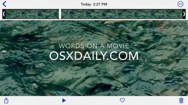 Come aggiungere testo al video con iMovie su iPhone