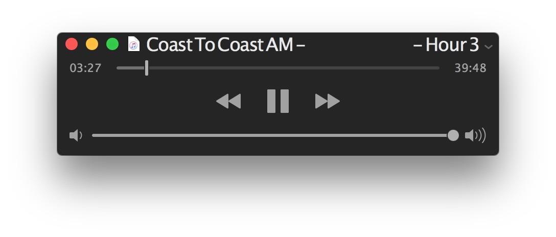 Ascolto di file audio con QuickTime