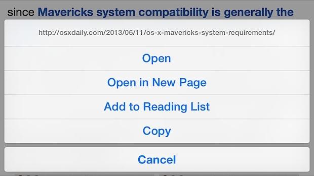 Visualizza in anteprima un URL completo lungo da Safari su iPhone