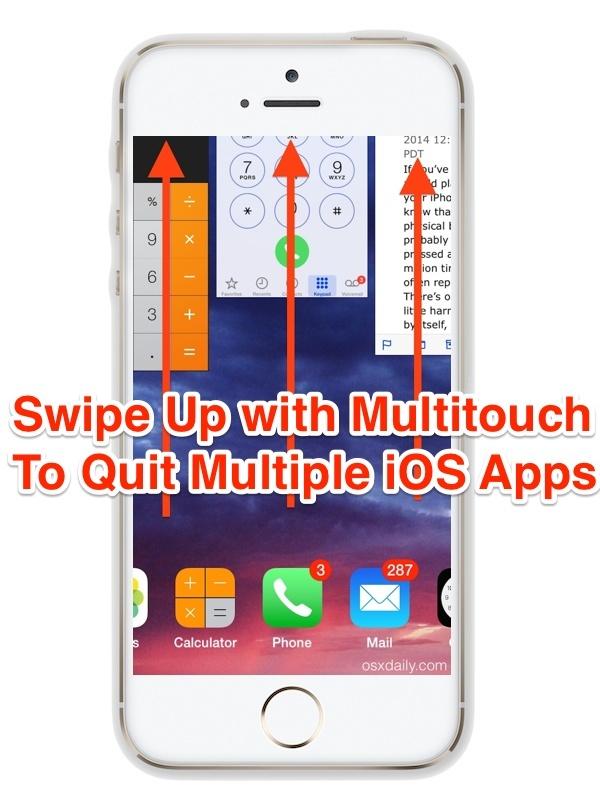 Esci da più app contemporaneamente con gesti di scorrimento su iPhone