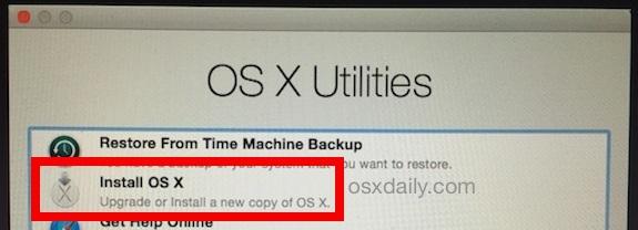 Installa OS X da Internet Recovery
