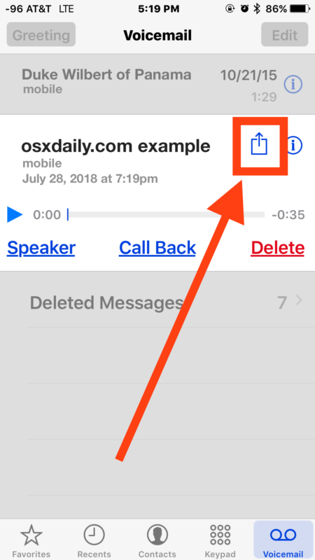 Salvato la telefonata registrata nella segreteria telefonica di iPhone
