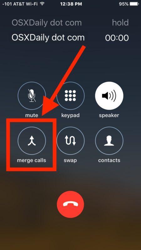 Unisci le chiamate per registrare la telefonata alla segreteria