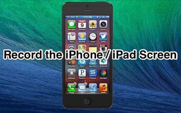 Registra lo schermo dell'iPhone / iPad