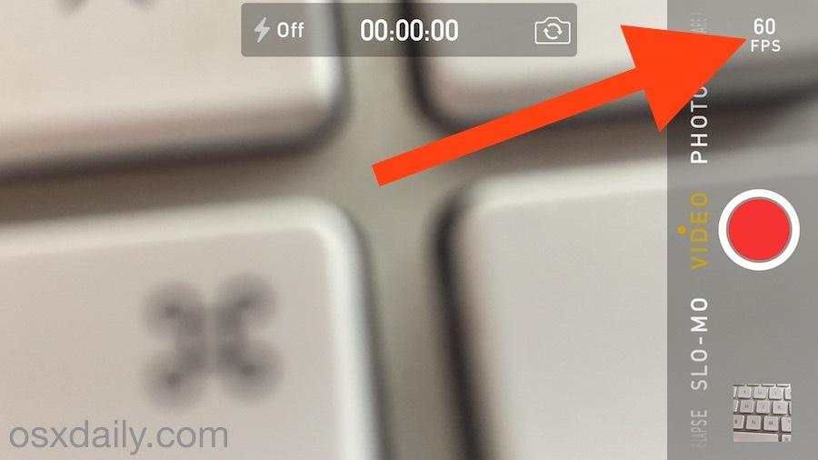 Registra video a 60 FPS su iPhone