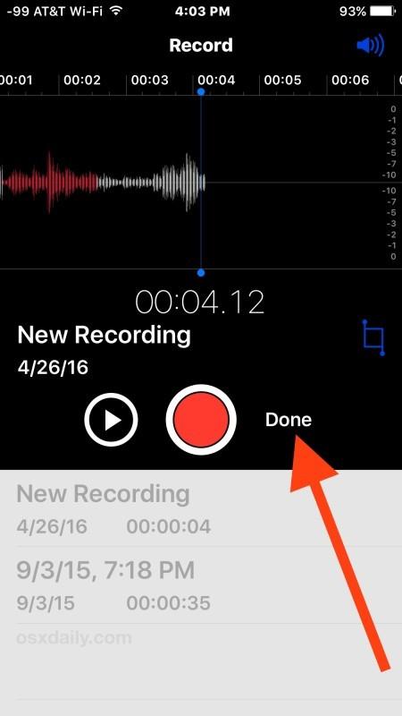 Completa la registrazione vocale