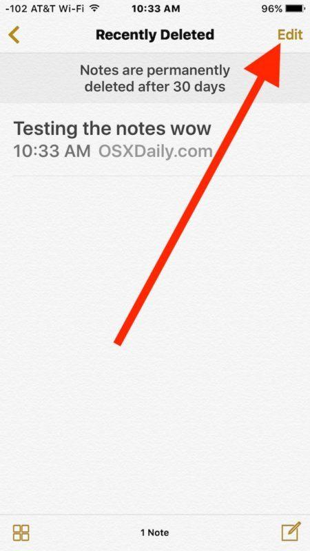 Modifica in modo da poter spostare la nota cancellata