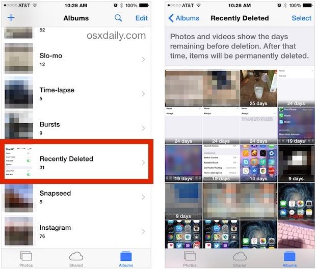 Recupera le foto cancellate su iPhone