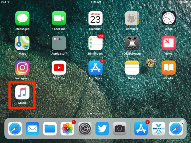 App di stock scaricata che appare sulla schermata iniziale di iOS dopo averla nuovamente scaricata