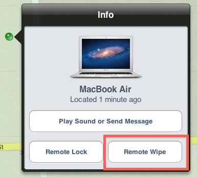 Remoto Cancella un Mac