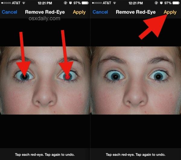 Risolvere le foto degli occhi rossi su iPhone