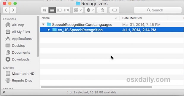Rimozione del pacchetto di dettatura avanzato da Mac