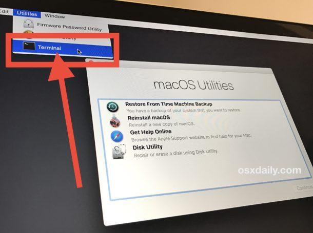 Reimpostazione della password dell'amministratore in macOS