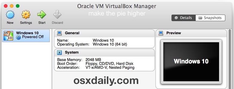 Responsabile VirtualBox