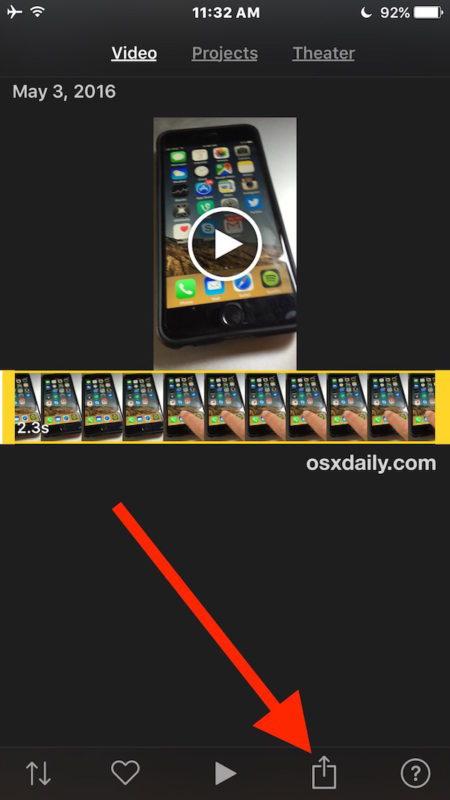 Seleziona il video da ruotare su iPhone