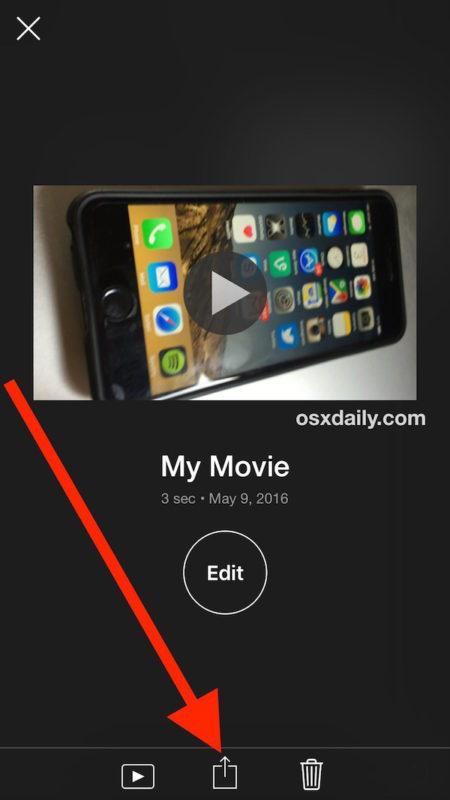 Salva il video per ruotare su iPhone